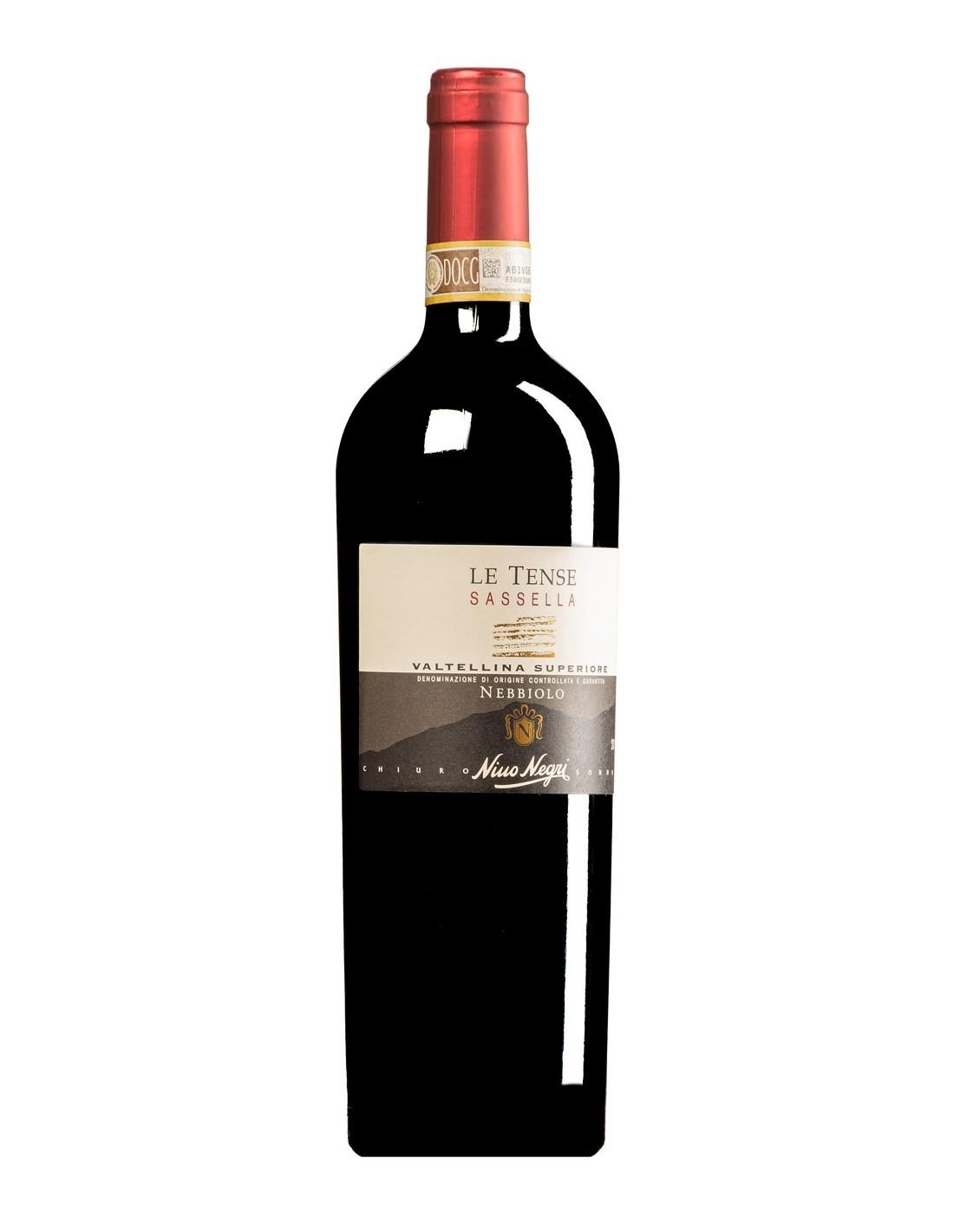 Vin rosu sec, Nebbiolo, Nino Negri La Tense Sassella Valtellina Superiore, 13.5% alc., 0.75L, Italia