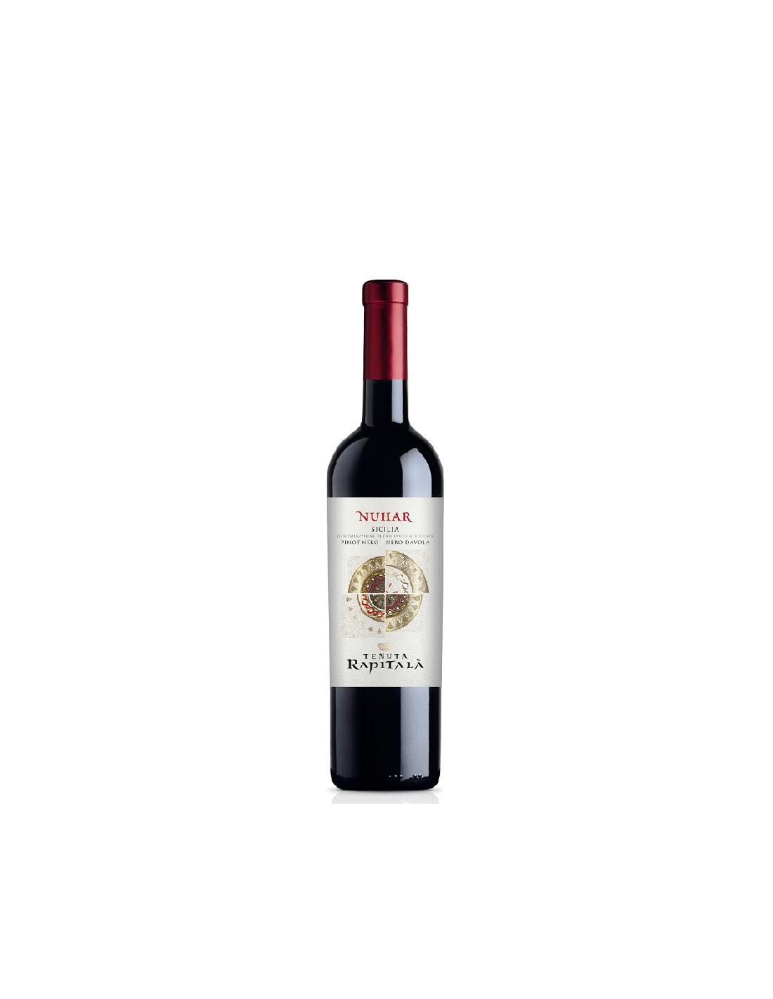 Vin rosu, Cupaj, Tenuta Rapitala Nuhar Sicilia, 13.5% alc., 0.75L, Italia