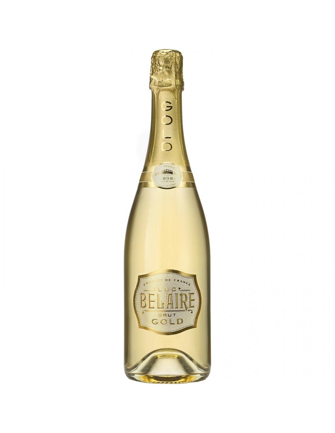 Vin spumant Luc Belaire Gold Brut, 12.5% alc., 0.75L, Franta