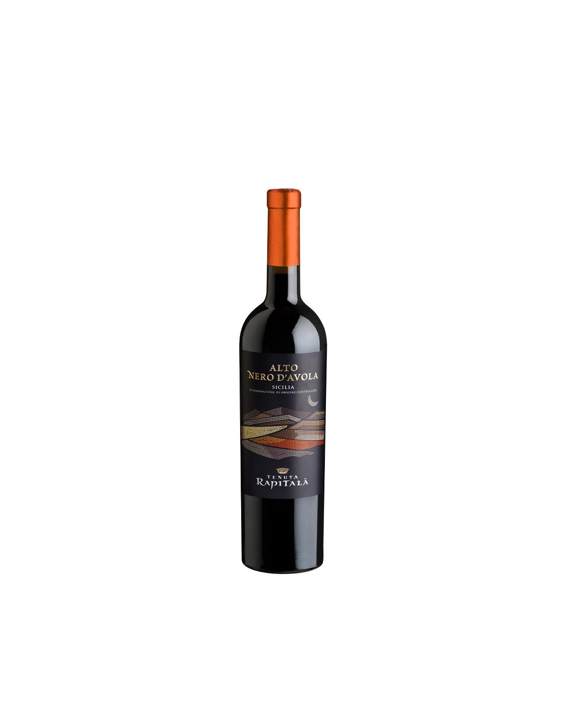 Vin rosu, Tenuta Rapitalà Nero Davola Alto Sicilia, 14% alc., 0.75L, Italia