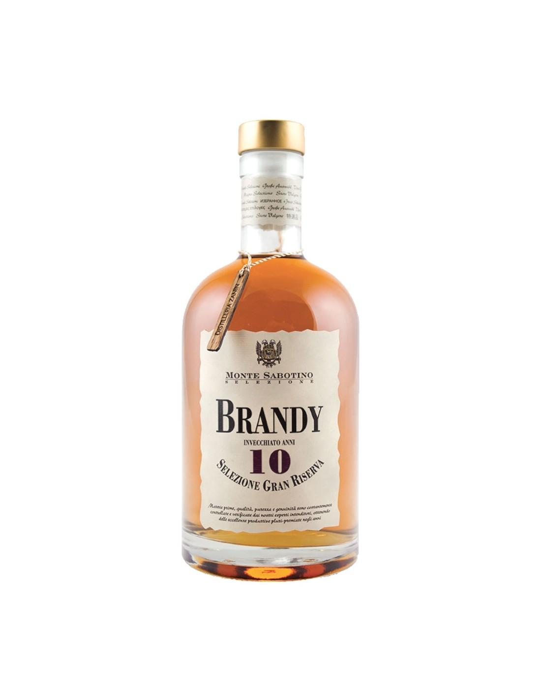 Brandy Monte Sabotino 10 ani Gran Riserva Astuccio, 40% alc., 0.7L, Italia