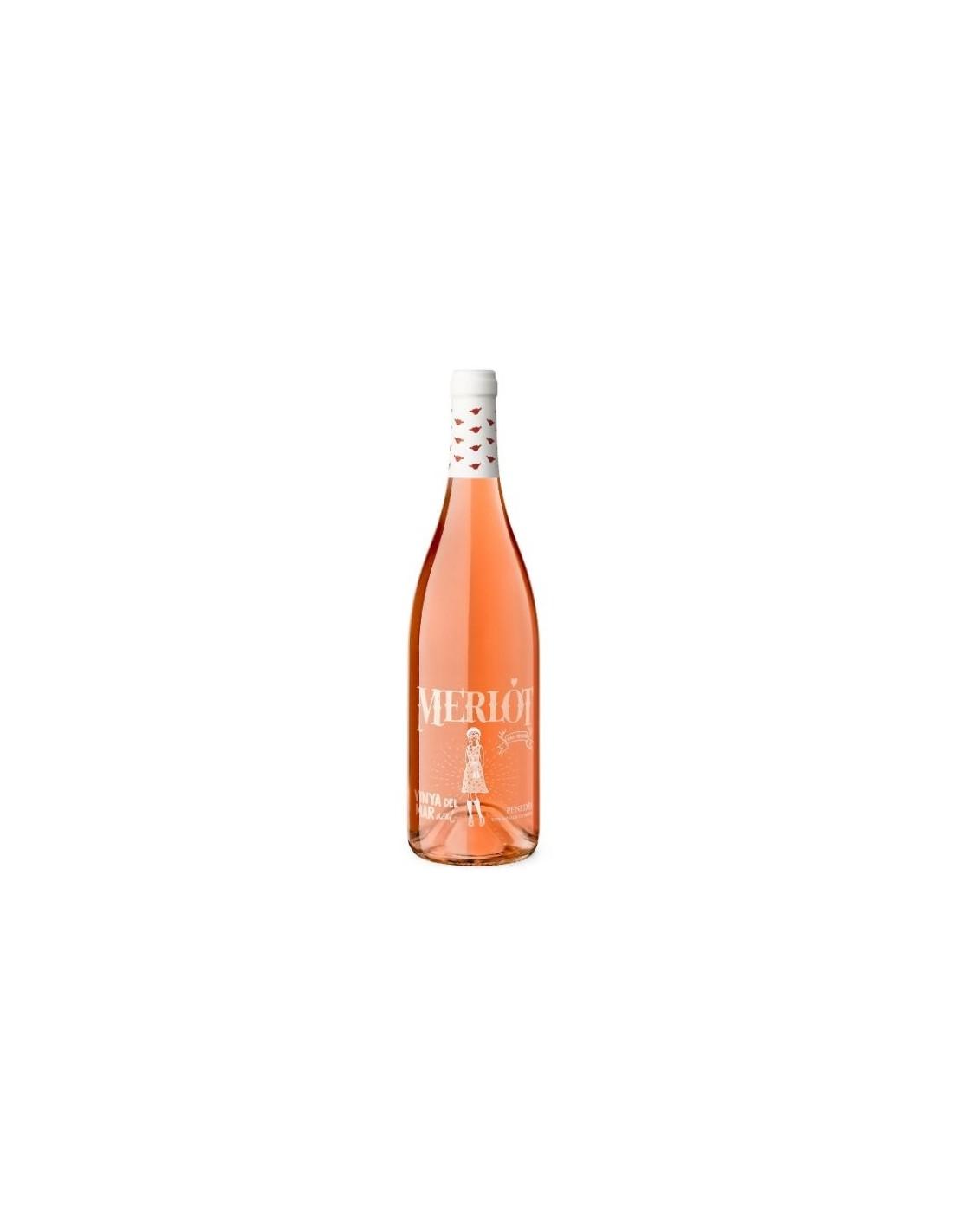 Vin roze, Merlot, Vinya del Mar, 11.5% alc., 0.75L, Spania