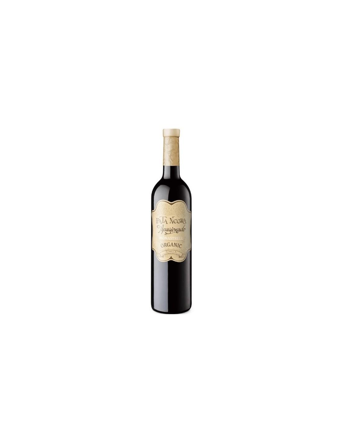 Vin rosu, Monastrell, Pata Negra Apasionado Organic Jumilla, 14.5% alc., 0.75L, Spania