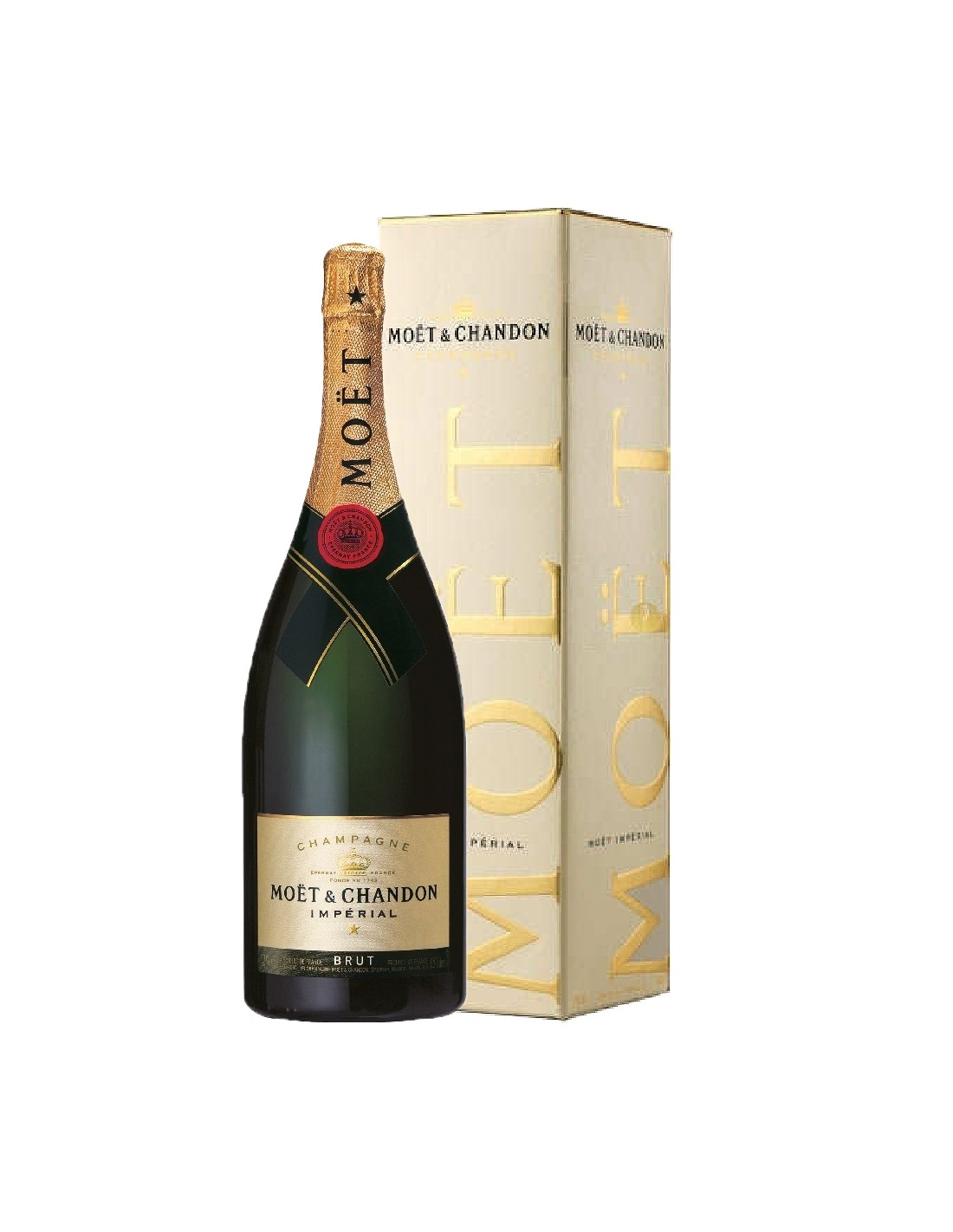 Sampanie Moët & Chandon Brut Imperial Champagne, 1.5L, 12% alc., Franta