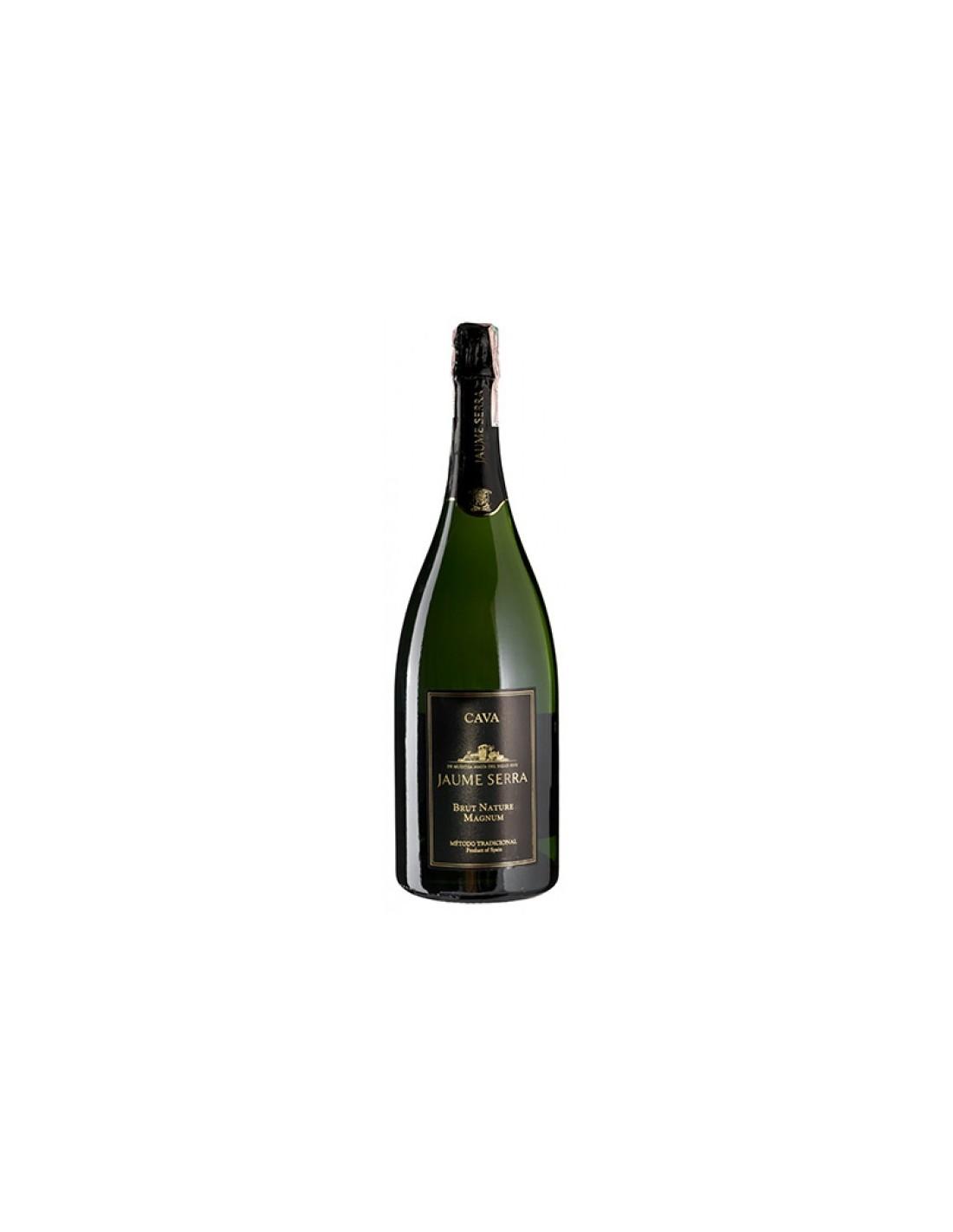 Vin spumant alb Jaume Serra Brut Nature Magnum, 11.5% alc., 1.5L, Spania