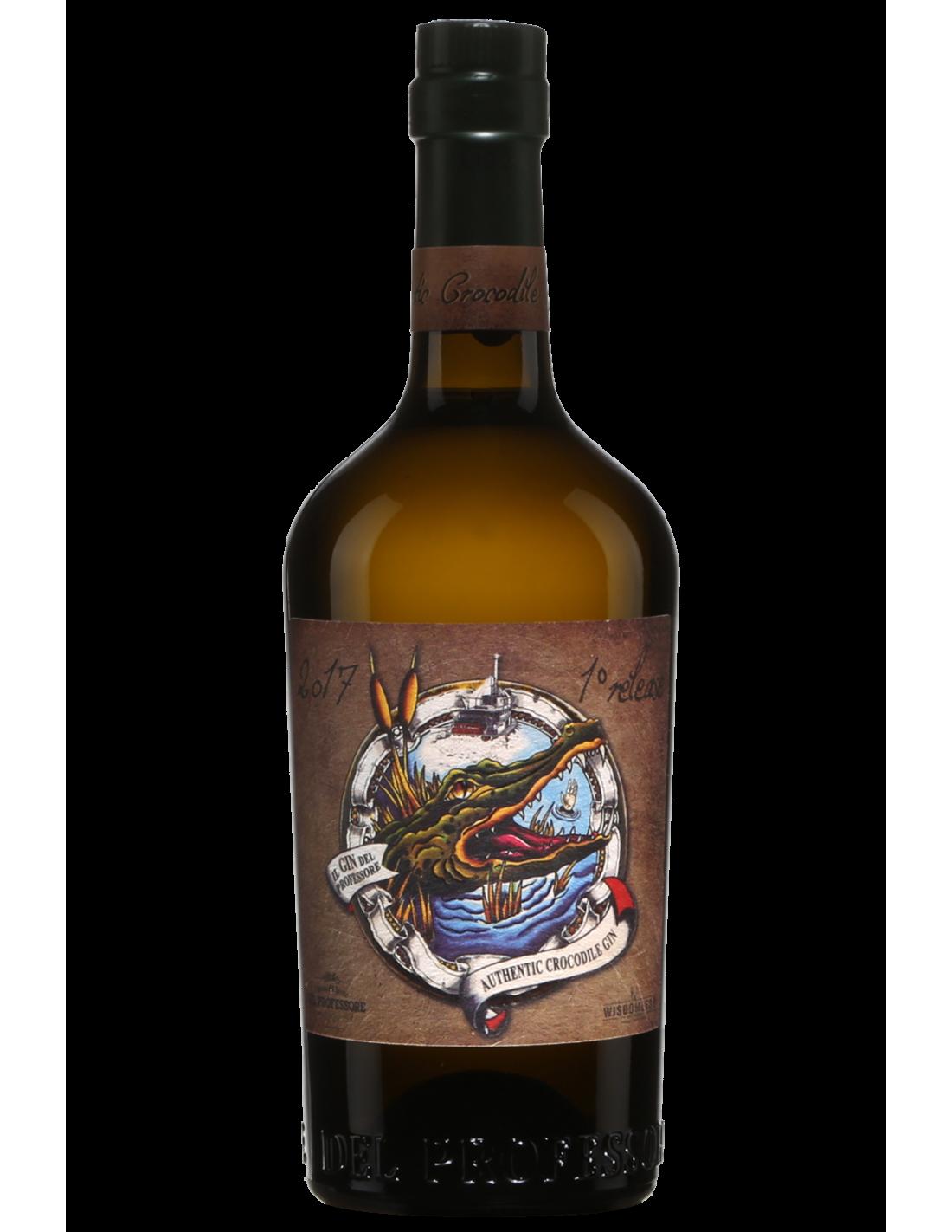 Gin Del Professore Authentic Crocodile, 45% alc., 0.7L, Italia