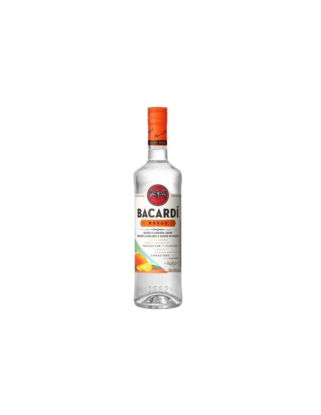 Rom Bacardi Mango, 1L, 32% alc., Cuba