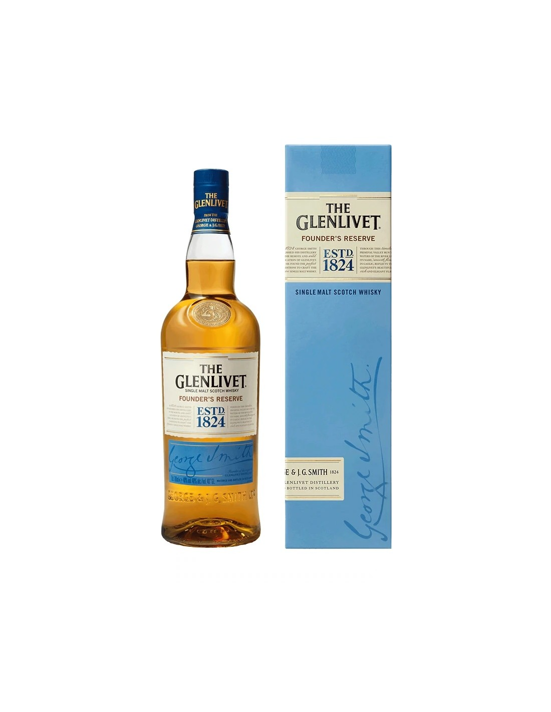 Whisky The Glenlivet Founder's Reserve, 40% alc., 0.7L, Scotia