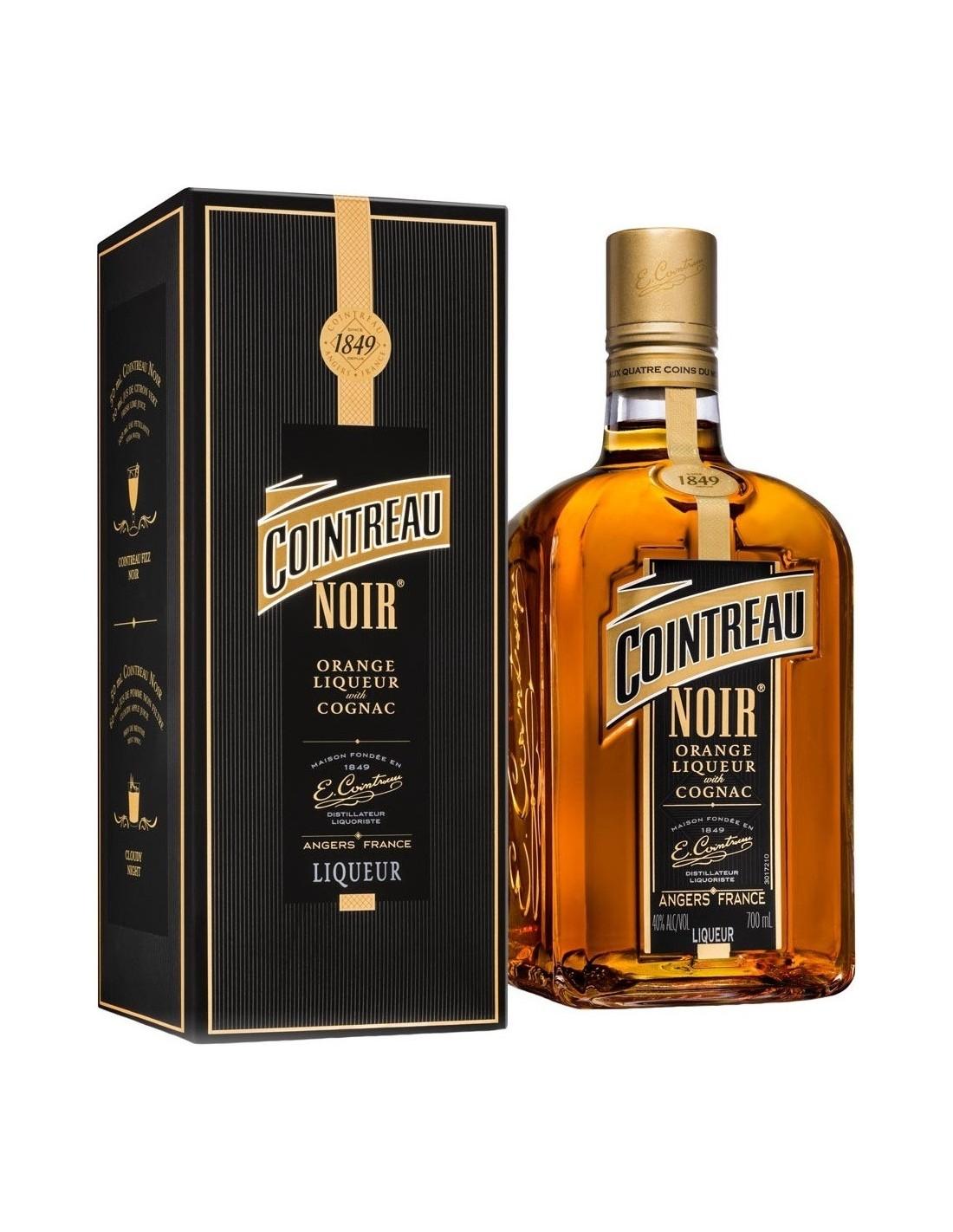 Lichior Cointreau Noir, 0.7L, 40% alc., Franta