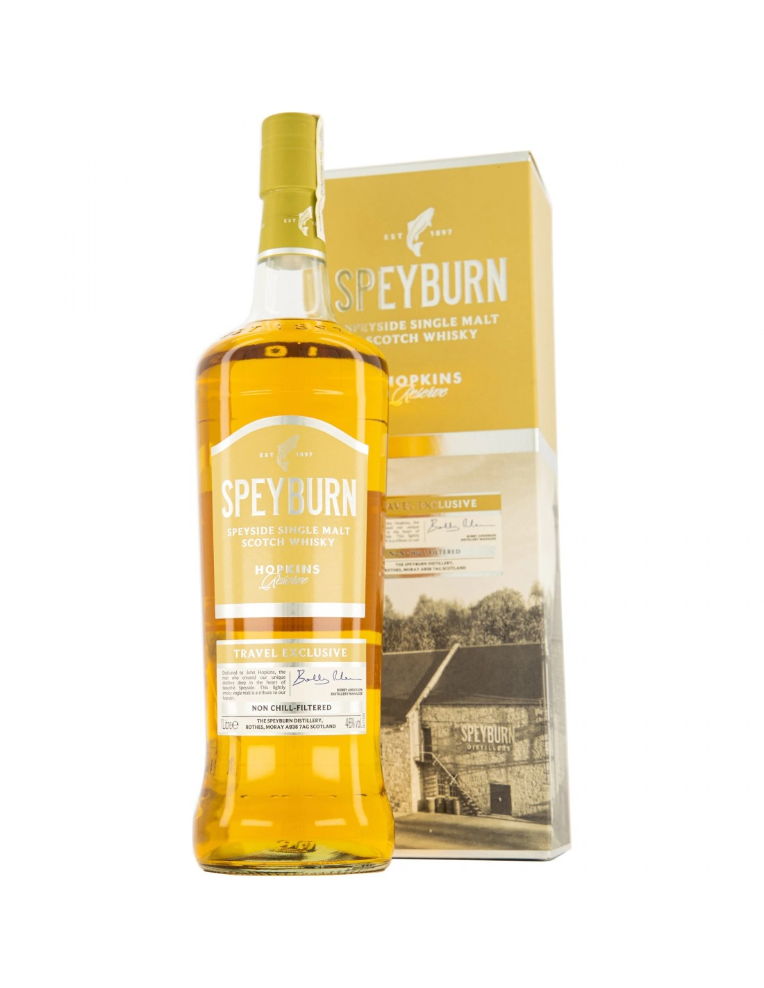 Whisky Speyburn Single Malt Hopkins Reserve, 40% alc., 0.7L, Scotia
