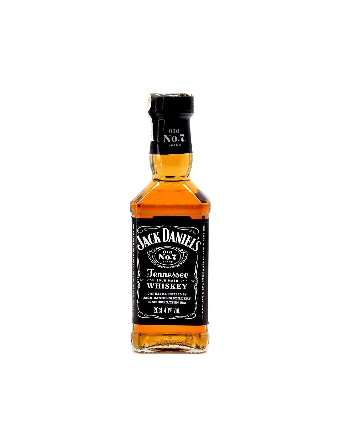 Whisky Bourbon Jack Daniels, 40% alc., 0.2L