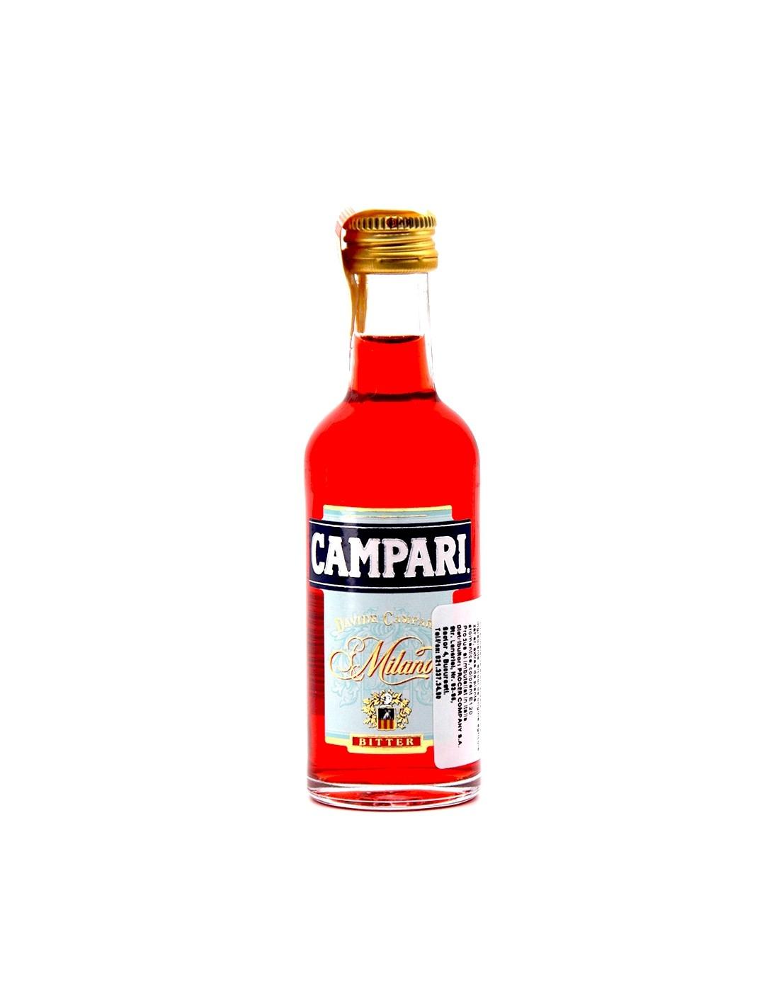Lichior Campari Bitter, 25% alc., 0.05L, Italia