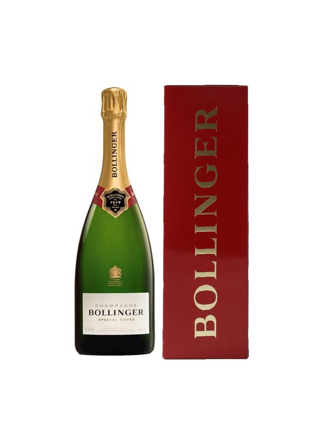 Sampanie Bollinger Brut Special Cuvee Champagne + cutie, 0.75L, 12% alc., Franta