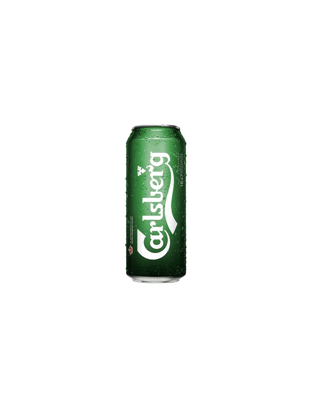 Bere blonda Carlsberg, 5.2% alc., 0.5L, Romania