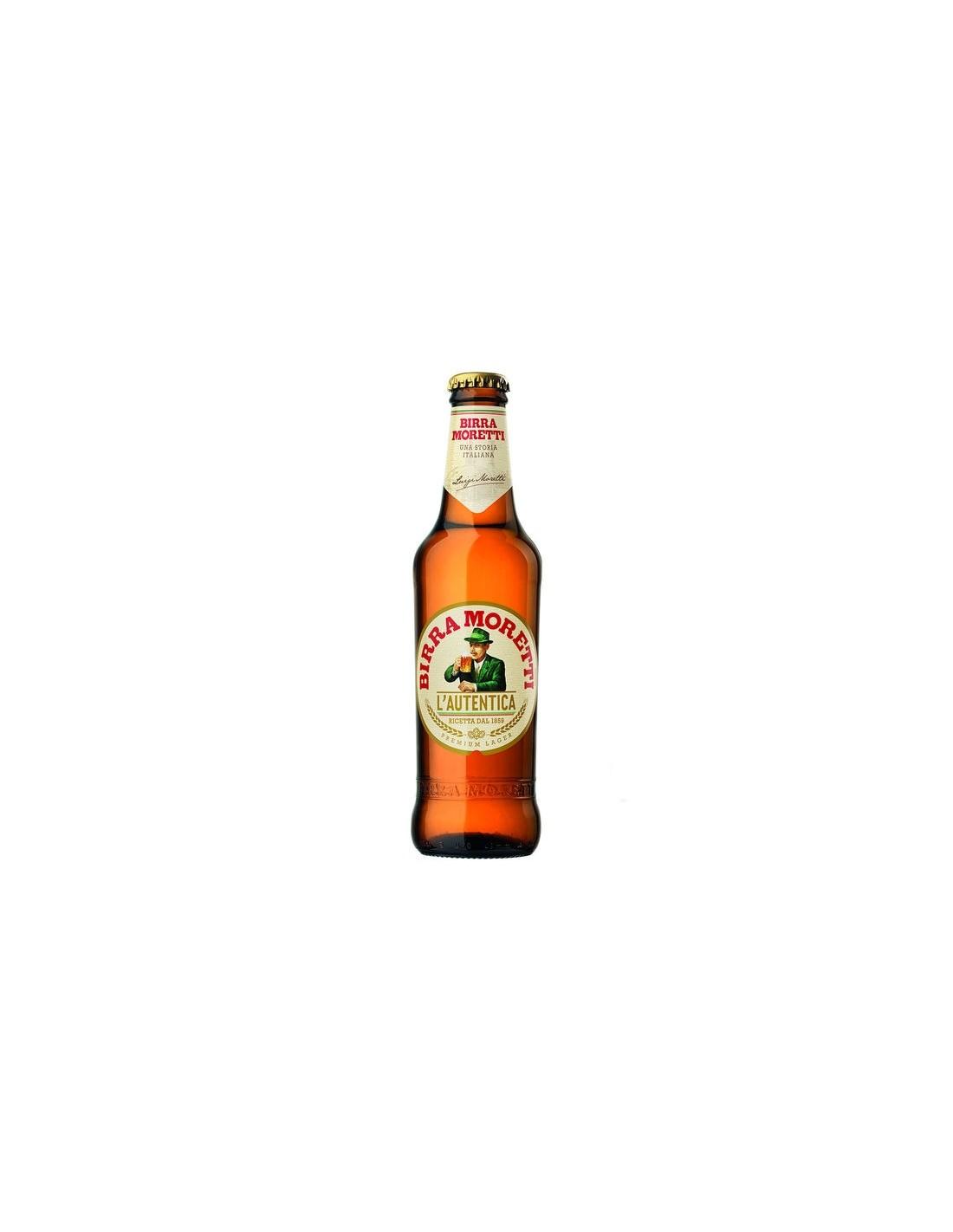 Bere blonda, Birra Moretti, 4.6% alc., 0.66L