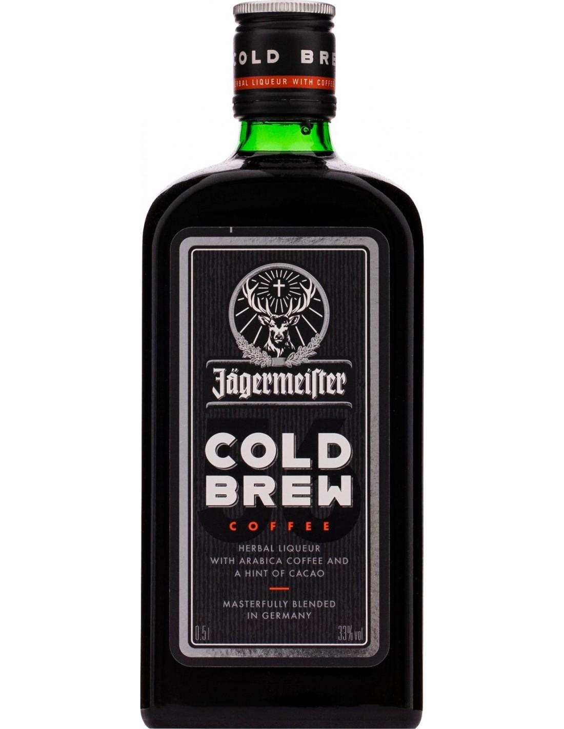 Lichior digestiv Jagermeister Cold Brew, 33% alc., 0.5L, Germania