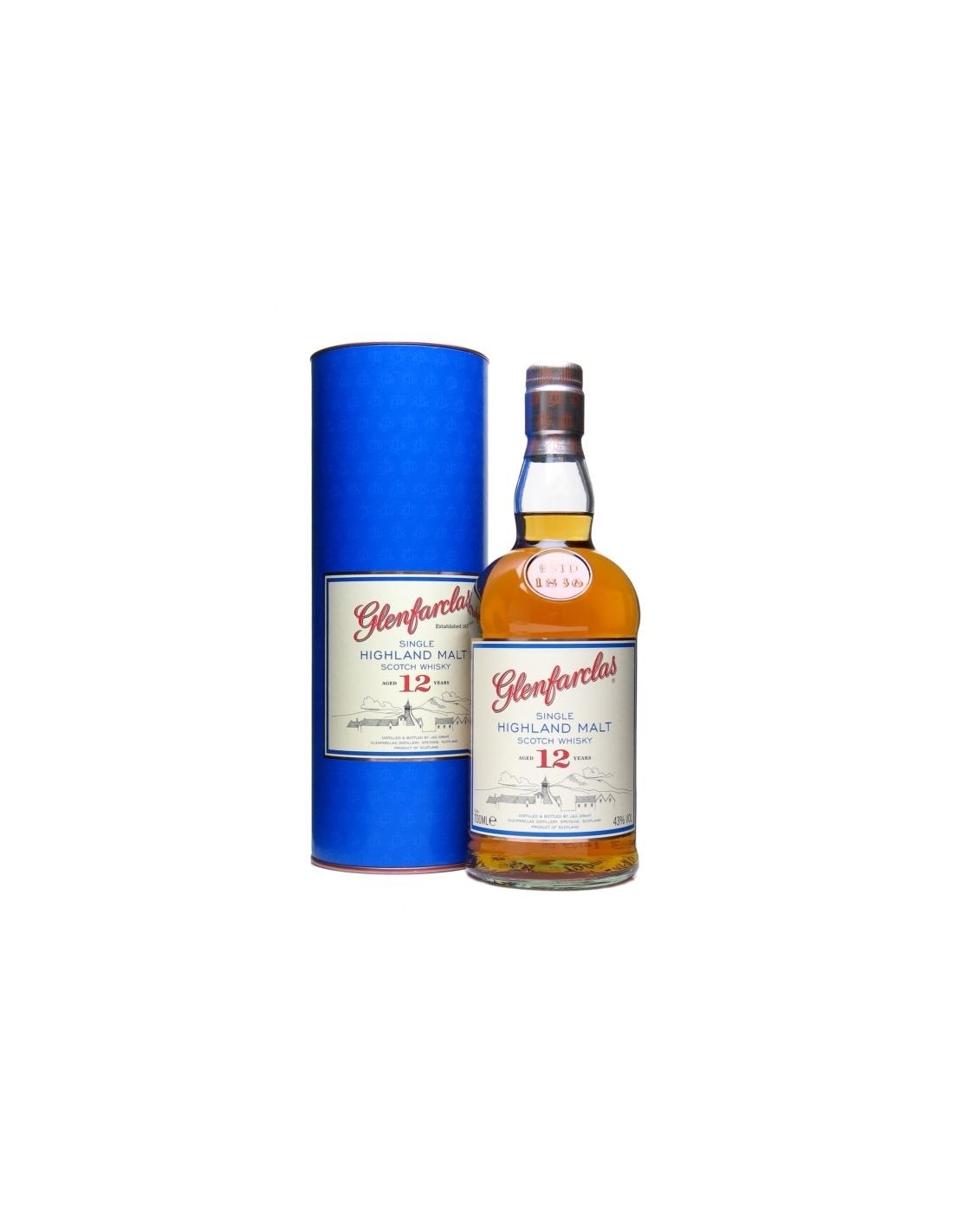 Whisky Single Malt Glenfarclas, 12 ani, 43% alc., 0.7L, cutie, Scotia