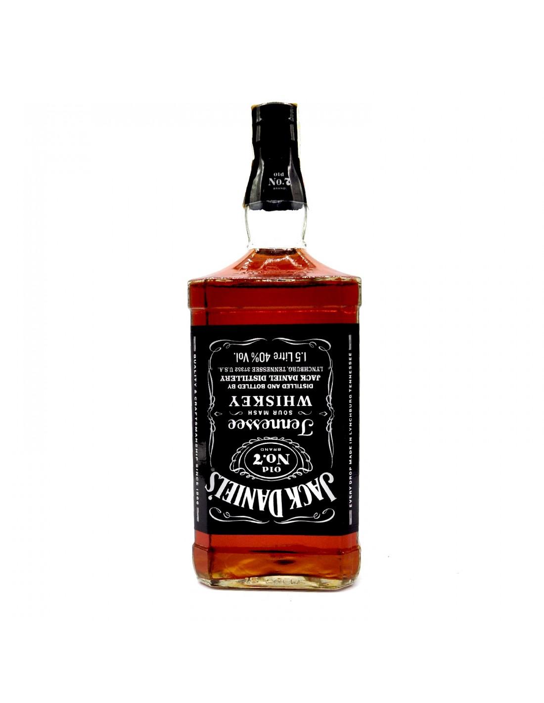 Whisky Bourbon Jack Daniel's, 40% alc., 1.5L, America