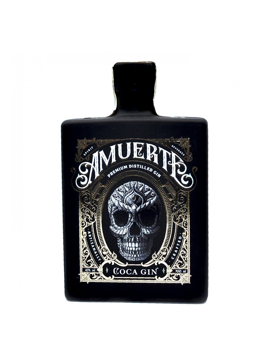 Gin Amuerte Coca Leaf Black Edition 43% alc., 0.7L