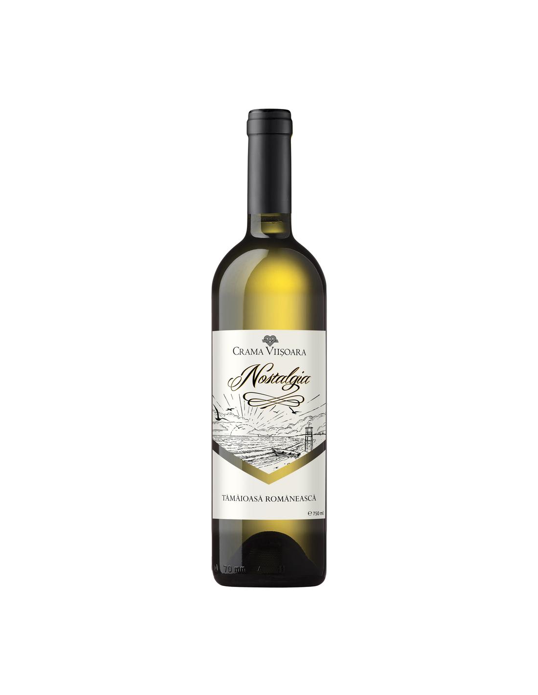 Vin alb demisec, Sauvignon Blanc, Nostalgia, 0.75L, 14% alc., Romania