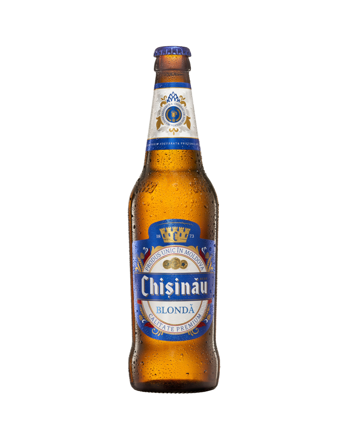 Bere blonda, Chisinau Calitate Premium, 4.5% alc., 0.5L, Moldova