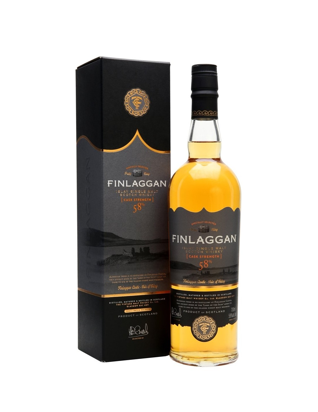 Whisky Finlaggan Cask Strength, 58% alc., 0.7L, Scotia