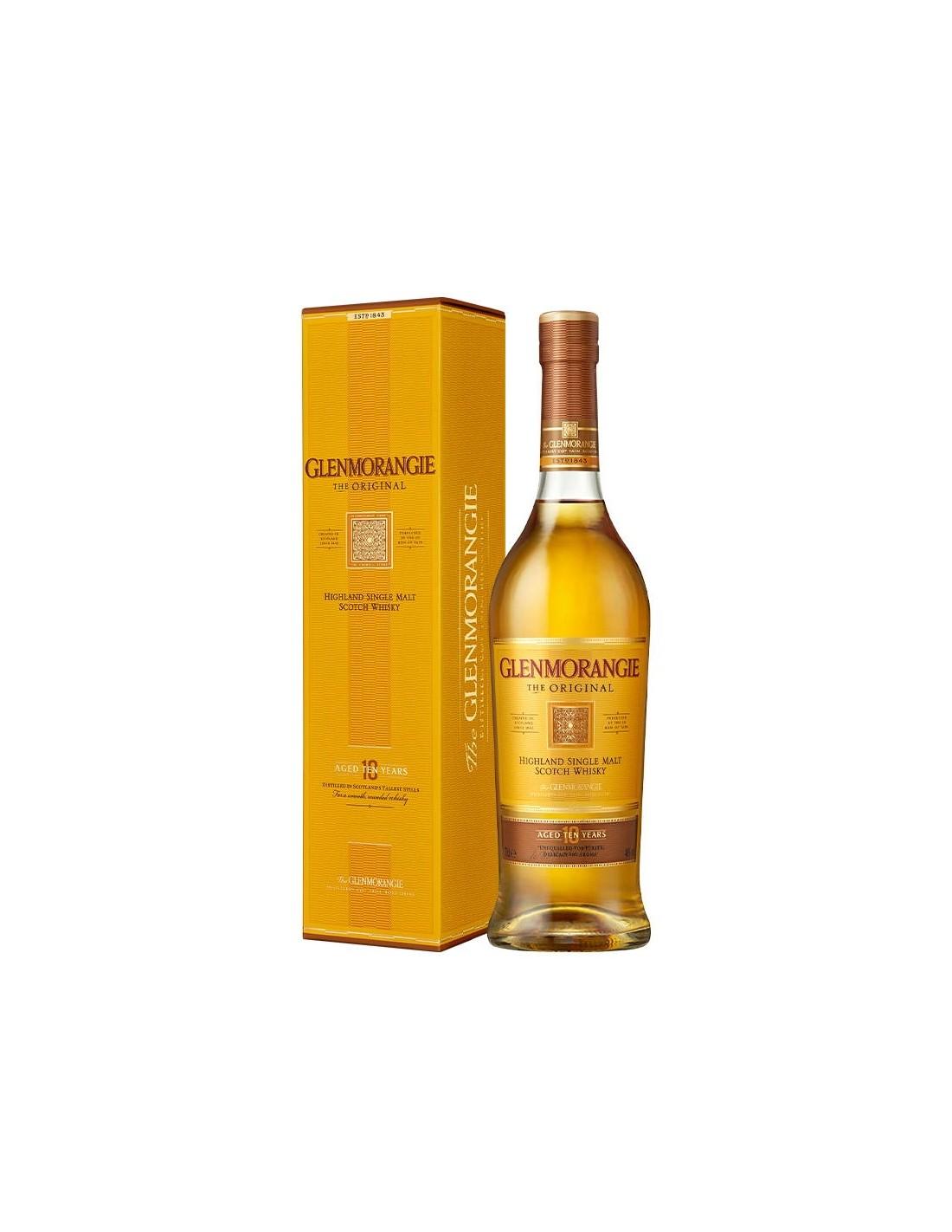 Whisky Glenmorangie, 10 ani, 40% alc., 0.7L, Scotia