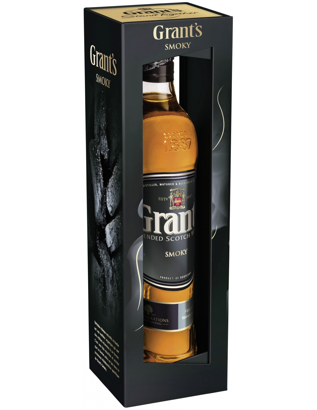 Whisky Grant's Smoky, 40% alc., 0.7L, Scotia