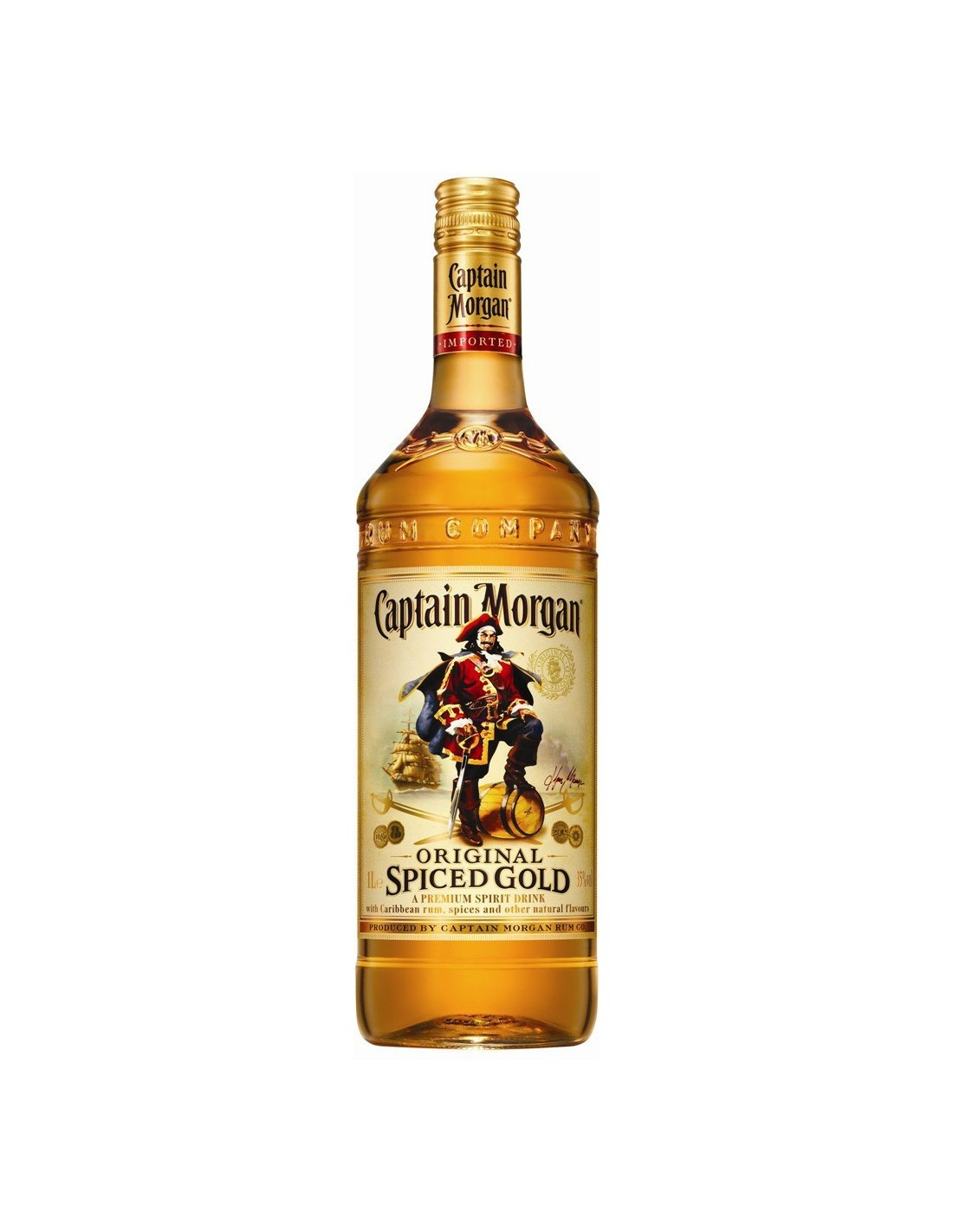 Rom Captain Morgan Spiced Gold, 35% alc., 3L, Jamaica