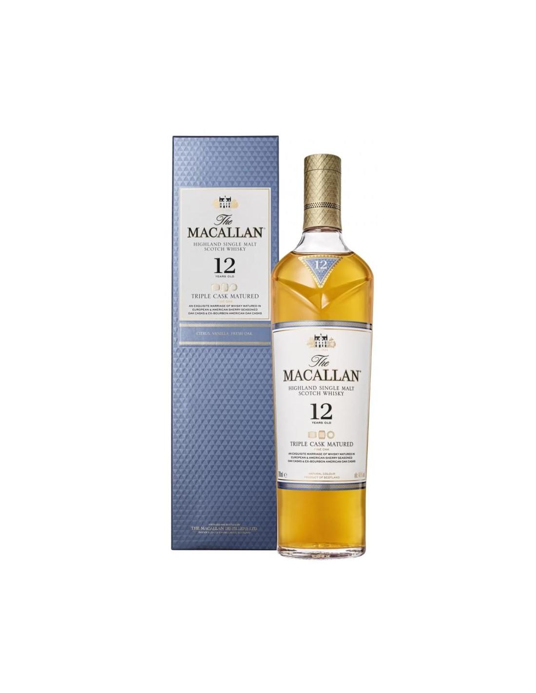 Whisky Single Malt The Macallan Triple Cask, 12 ani, 40% alc., 0.7L, Scotia