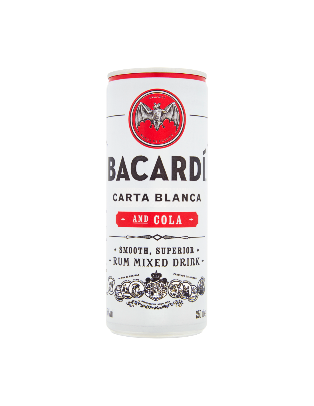 Cocktail Bacardi Carta Blanca & Cola doza, 5% alc., 0.25L