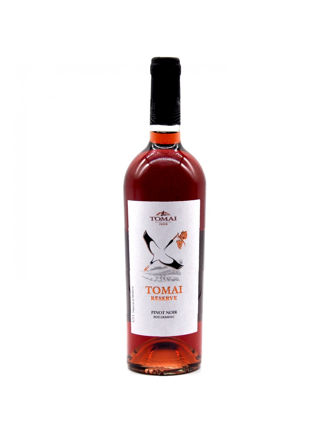 Vin roze demisec, Pinot Noir, Tomai Reserve, 0.75L, 12% alc., Republica Moldova