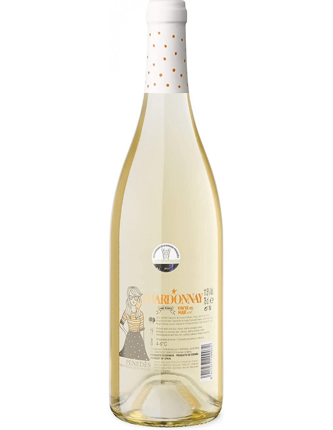 Vin alb, Chardonnay, Vinya del Mar, 11.5% alc., 0.75L, Spania