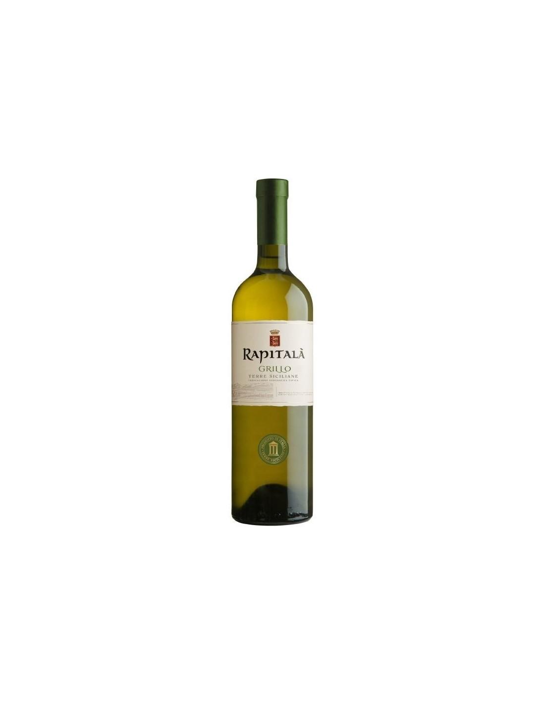 Vin alb, Grillo, Rapitala Sicilia, 0.75L, 13% alc., Italia