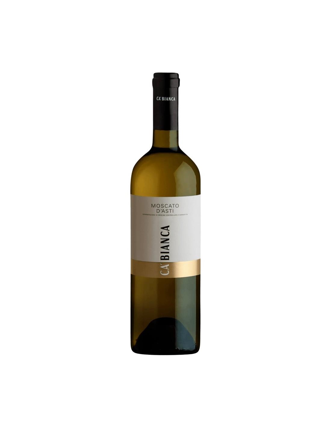 Vin alb, Moscato, Tenimenti Ca Bianca d'Asti, 0.75L, 5% alc., Italia