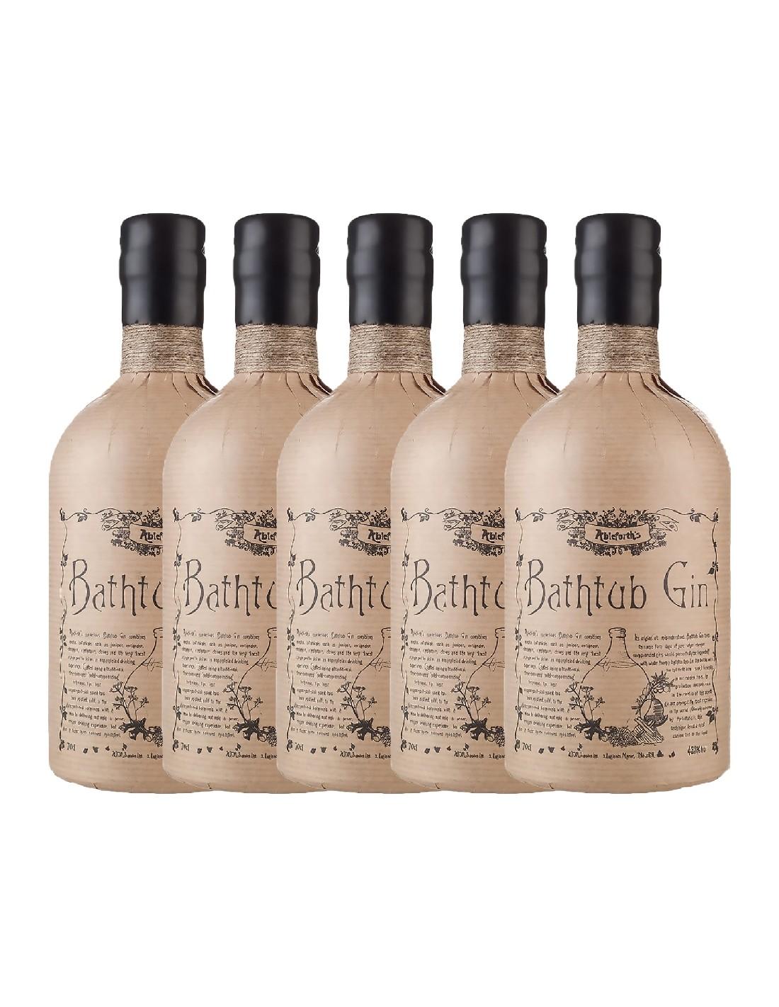 Pachet 5 sticle Gin Bathtub 43.3% alc., 0.7L