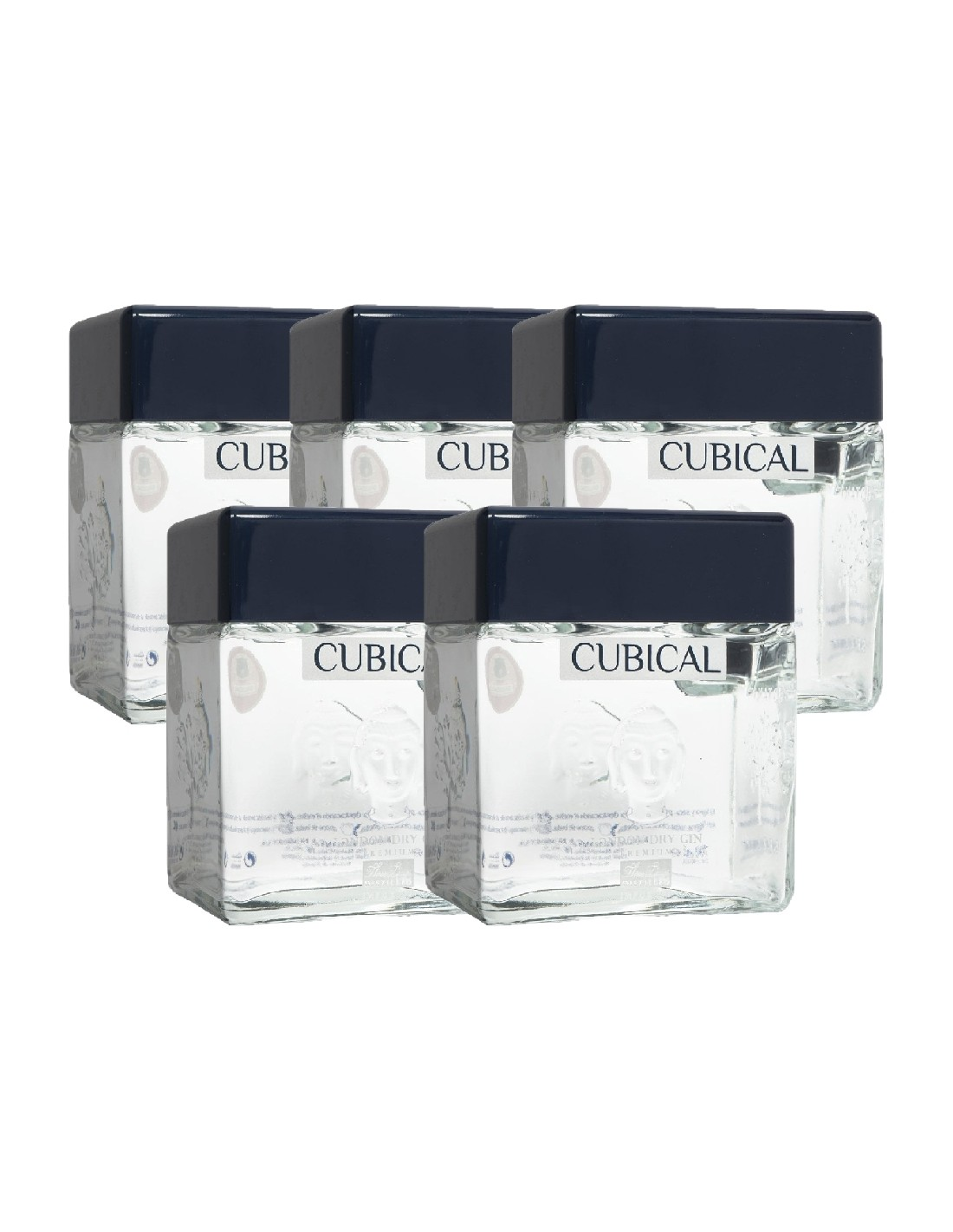 Pachet 5 sticle Gin Botanic Premium Cubical 40% alc., 0.7L, Spania