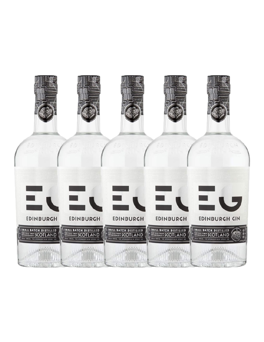 Pachet 5 sticle Gin Edinburgh 43% alc., 0.7L, Scotia