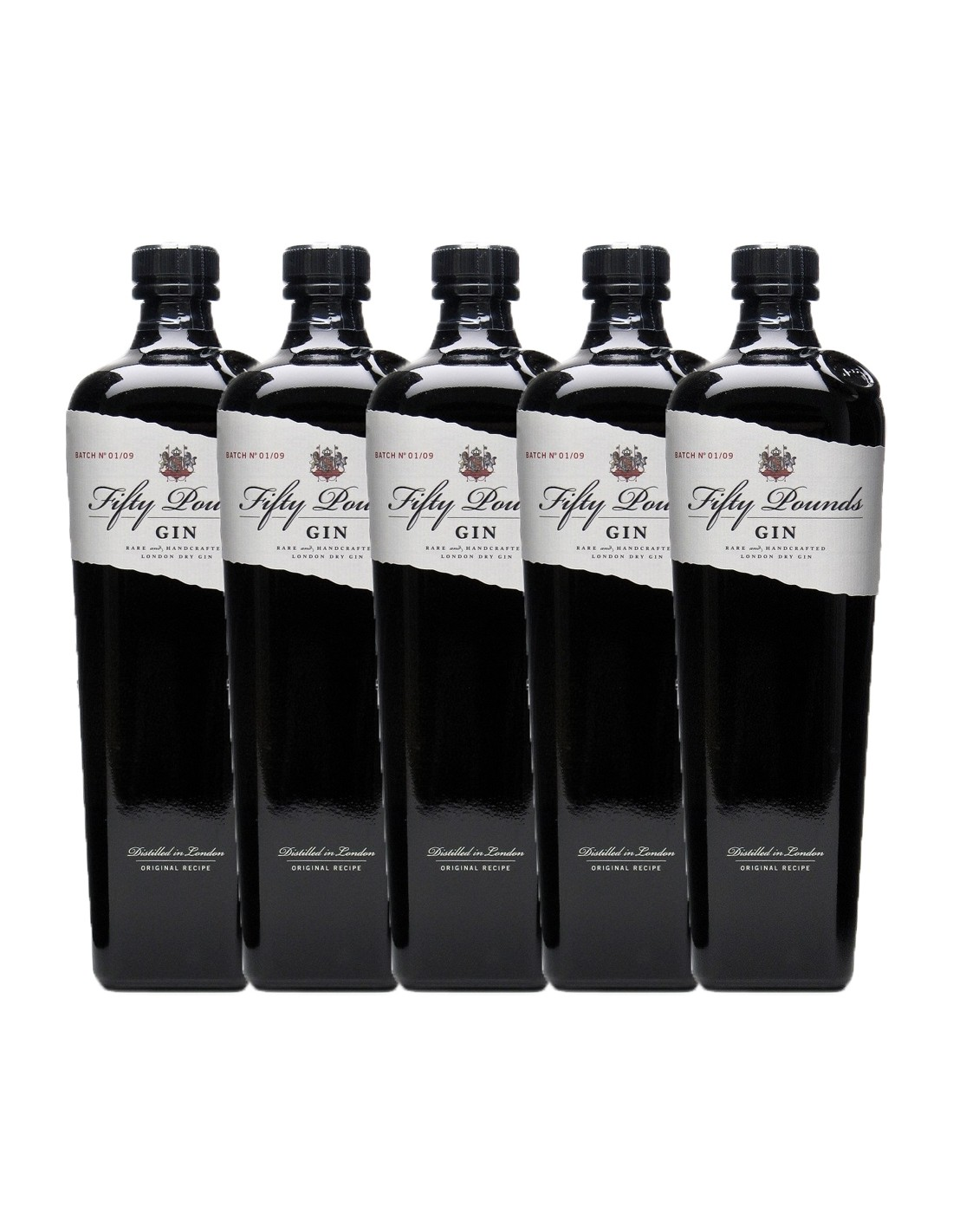 Pachet 5 sticle Gin Fifty Pounds 43.5% alc., 0.7L