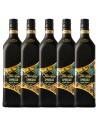 Pachet 5 sticle Rom negru Flor De Cana Spresso, 0.7L
