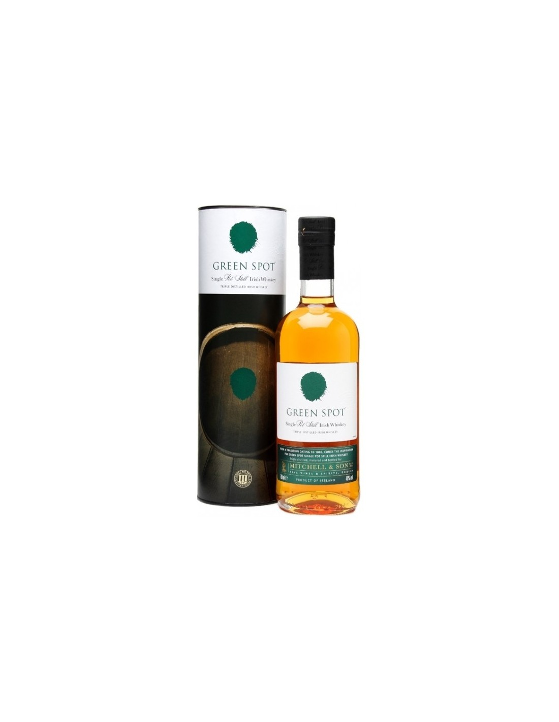 Whisky Green Spot Single Malt Pot Still, 40% alc., 0.7L, Irlanda