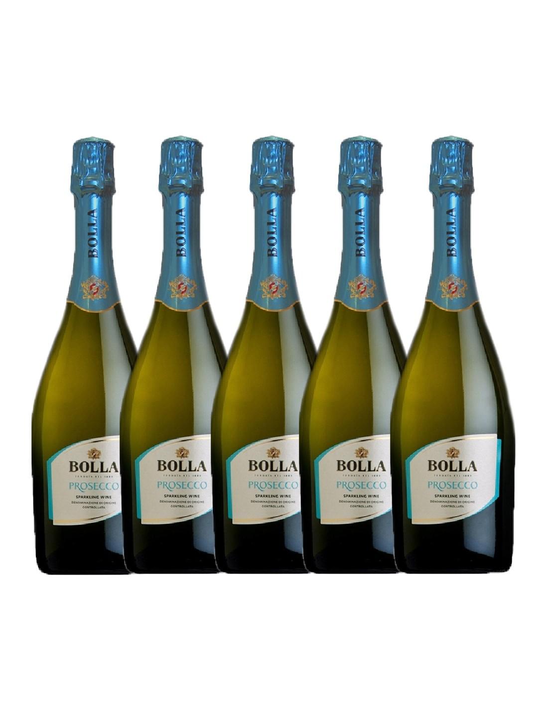 Pachet 5 sticle Vin prosecco alb sec Bolla Veneto, 0.75L, 11% alc., Italia