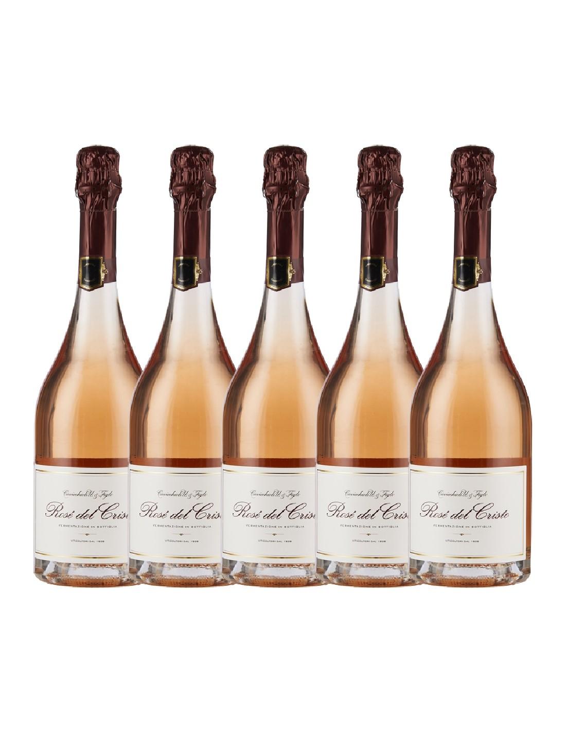 Pachet 5 sticle Vin spumant sec Lambrusco Di Sorbara, Cavicchioli Emilia-Romagna, 0.75L, 11% alc., Italia