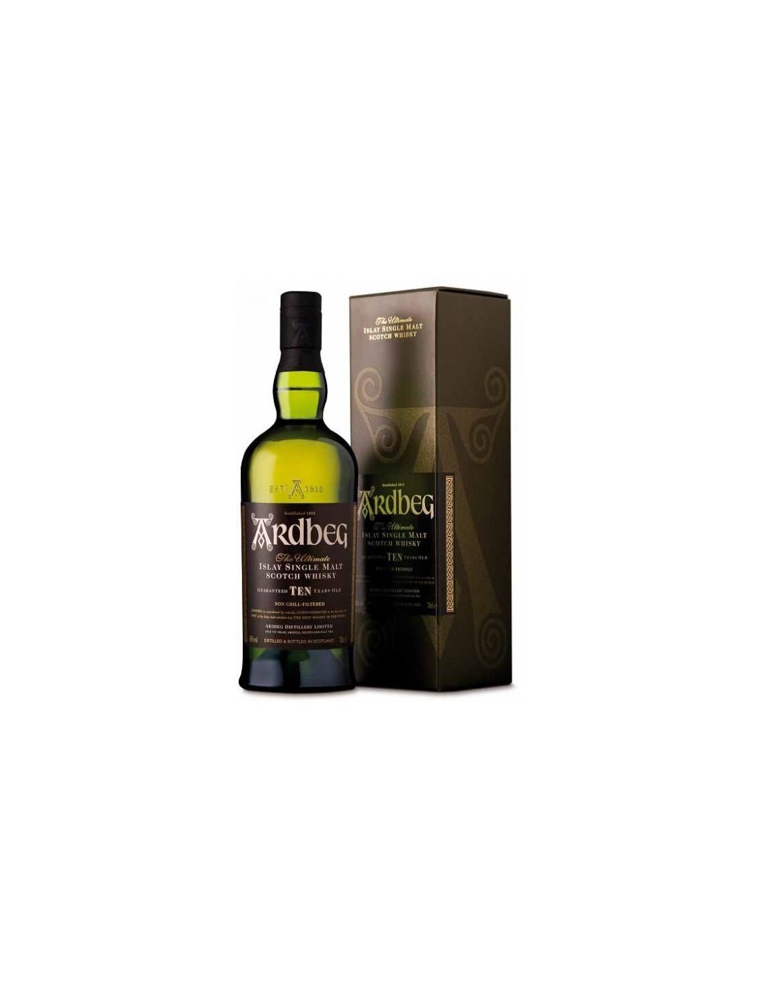 Whisky Ardbeg, 10 ani, 46% alc., 0.7L, Scotia