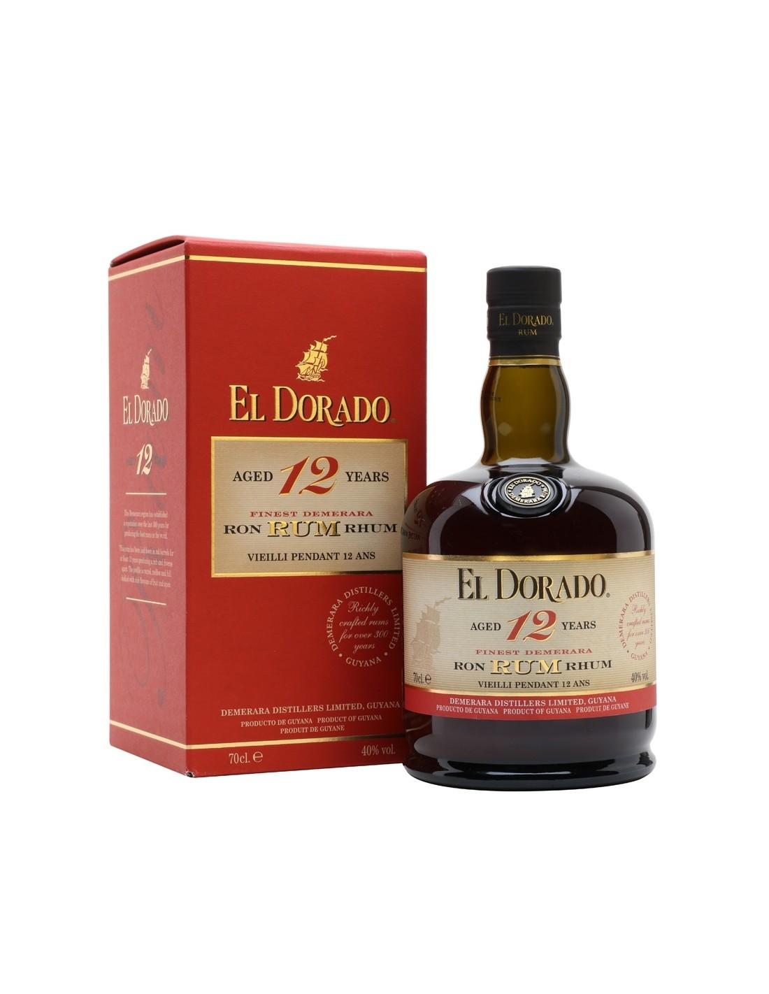 Rom El Dorado, 12 ani, 40% alc., 0.7L, Guyana