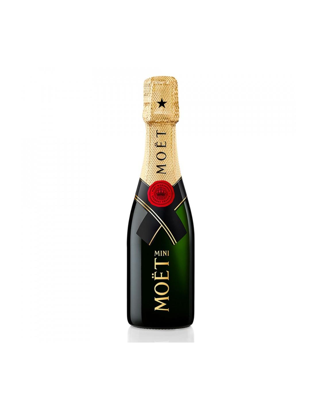 Sampanie Moët & Chandon Brut Imperial Champagne, 0.2L, 12% alc., Franta