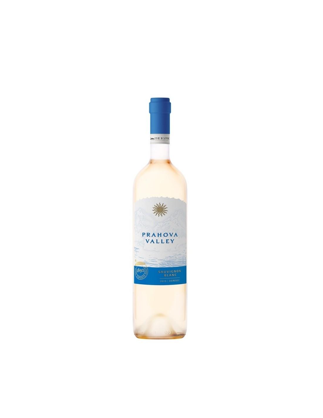 Vin alb demisec, Sauvignon Blanc, Prahova Valley, 13% alc., 0.75L, Romania