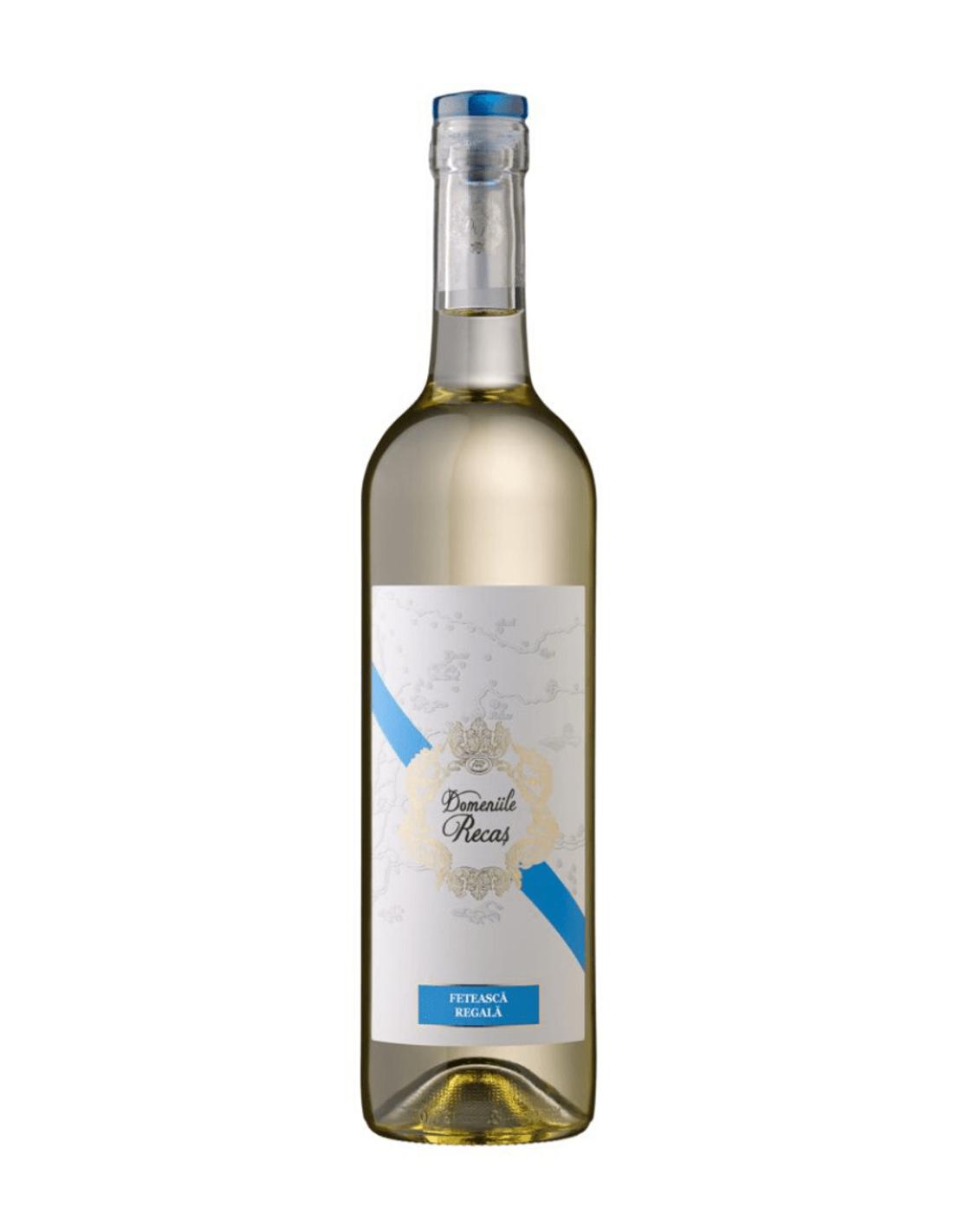 Vin alb demisec, Feteasca Regala, Domeniile Recas, 12% alc., 0.75L, Romania