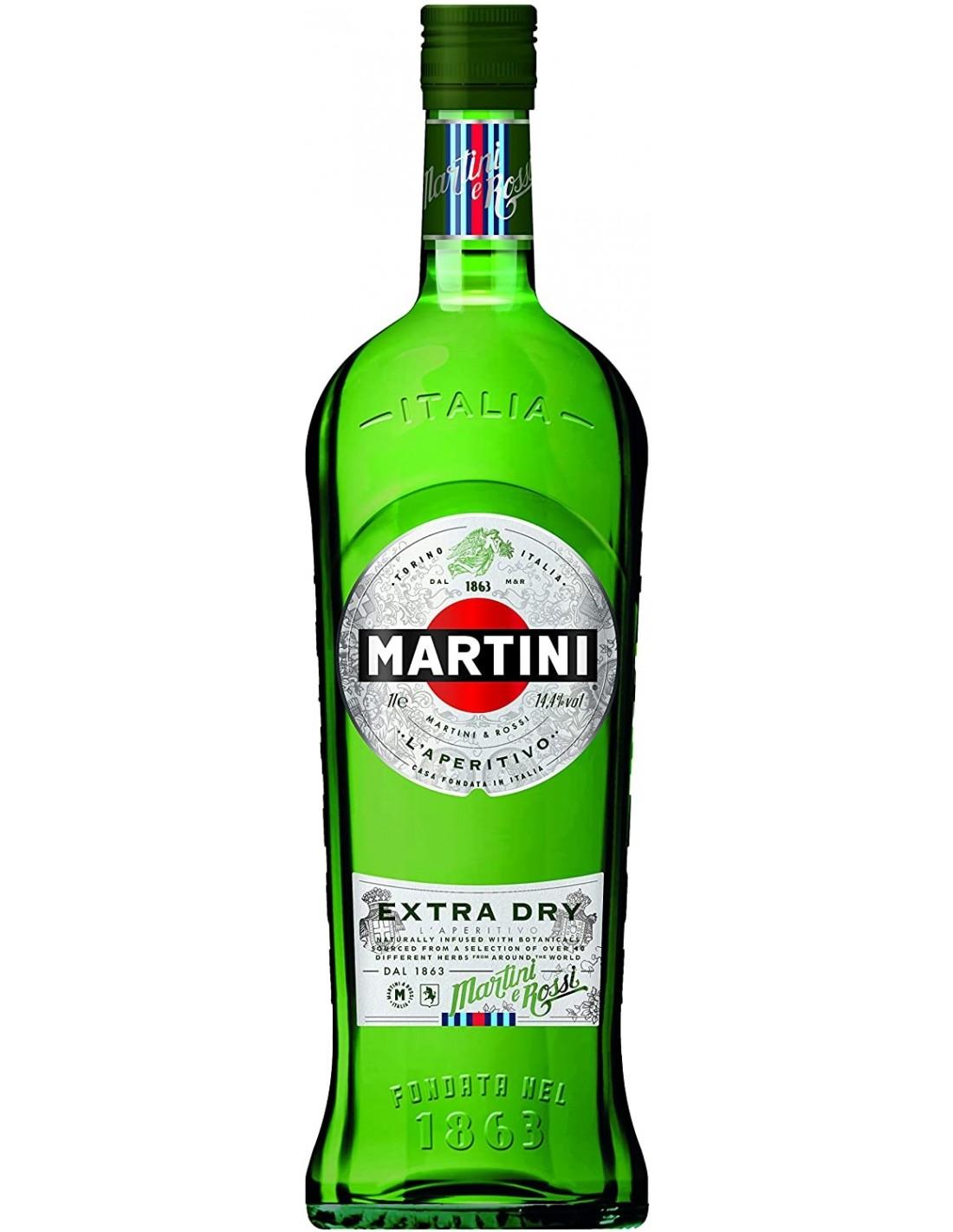 Aperitiv Martini Extra Dry, 18% alc., 1L, Italia