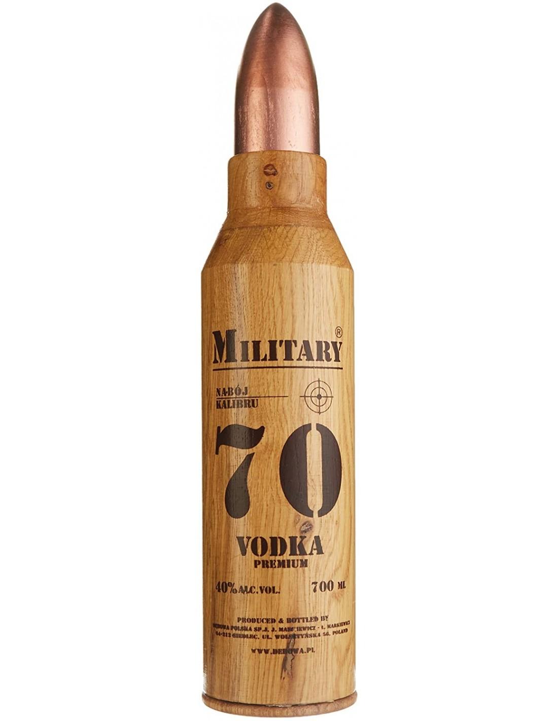 Vodca Military Debowa Premium, 40% alc., 0.7L, Polonia